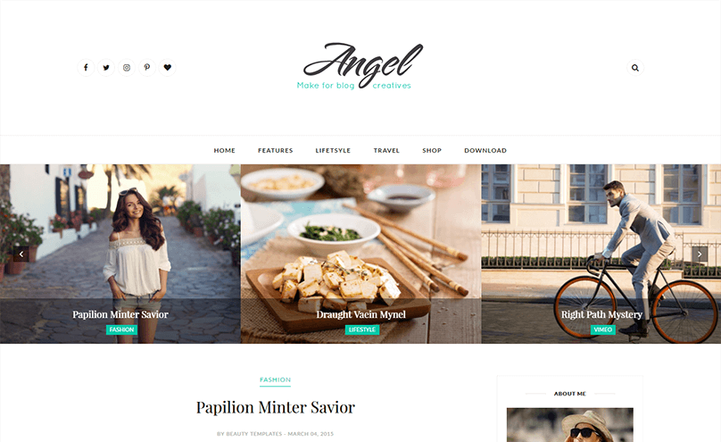 Angel Responsive Minimal Blogger Template