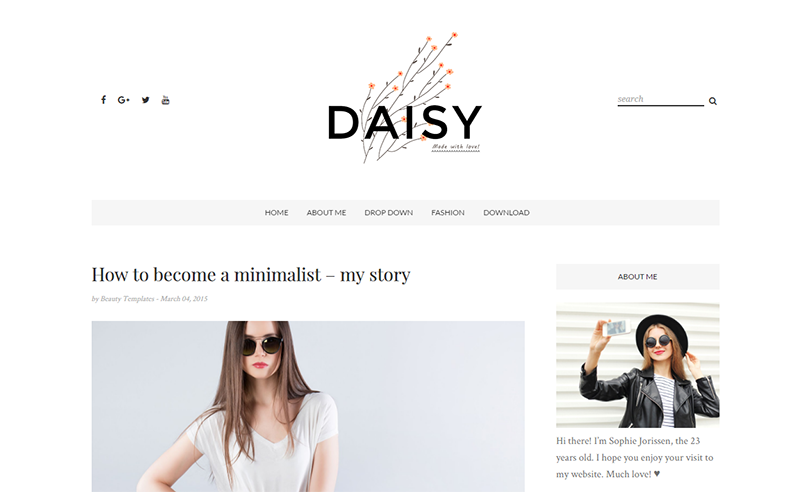 Daisy Clean & Personal Blogger Template