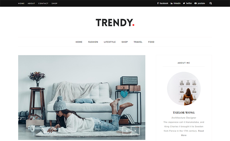 Trendy Responsive Minimal Blogger Template