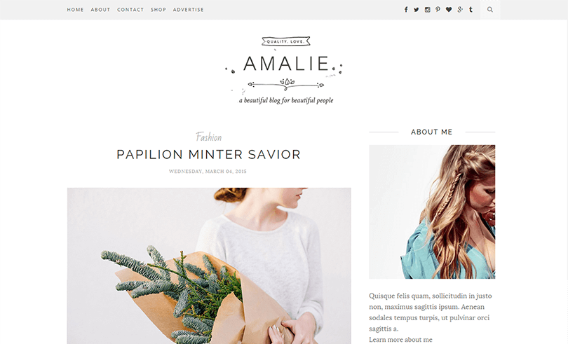 amalie a clean minimal blogger template. Black Bedroom Furniture Sets. Home Design Ideas