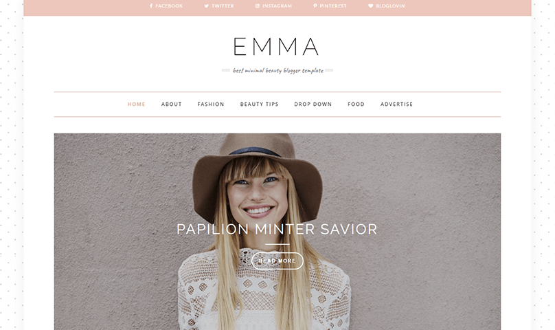 responsive personal website template
